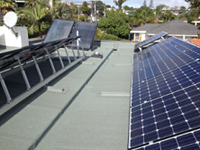 Photovoltaic and Solar hot water panels on Rod Oram's roof