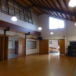 St Andrews Epsom Hall interior showing lights
