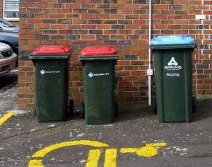 St Andrews Epsom recycling bins