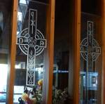 St Peter's Onehunga etched glass panels