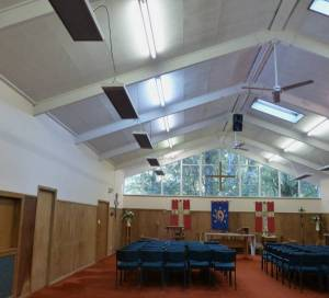 Efficient far infrared heaters at St Francis, Titirangi