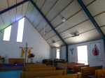 St Peter's Pakuranga church interior showing old heaters.