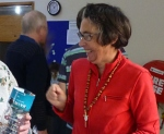 Janet Meads at the World Environment Day display stand at St Peter's Pakuranga