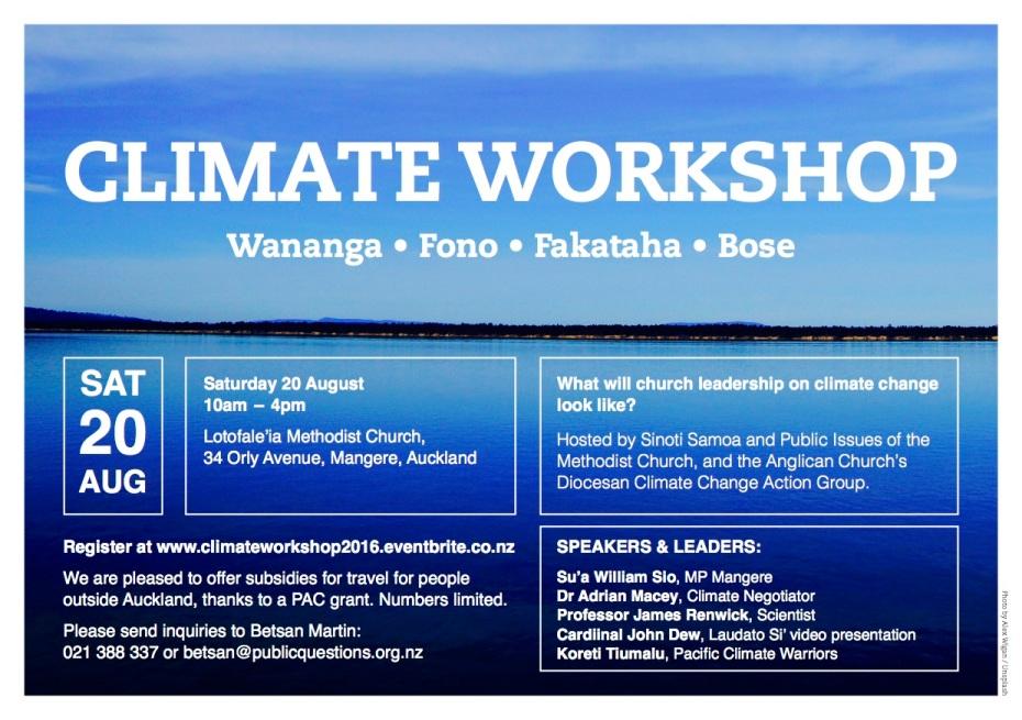 Climate Workshop flyer