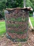 Easy peasy wire mesh in-situ compost bin