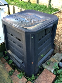 Smaller, commercial plastic compost bin