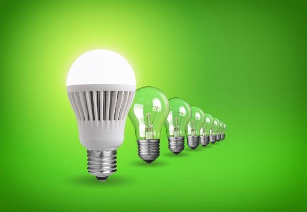led-bulb-green-background