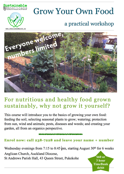 Grow Your Own Food Course 2 flyer